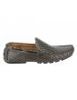 sandales à talons cuir et textile