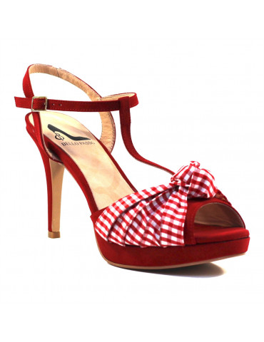 sandales à talons larges insert logo