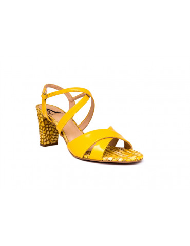 sandales gros talons 3 cm noeud sur la bide devantfleuri