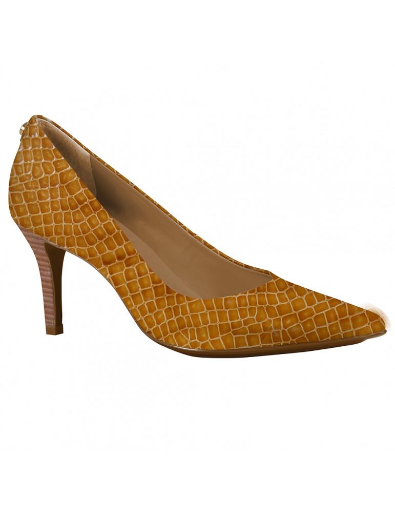 sandale à talon compensée