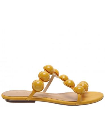 ballerines pointues boucle dorée