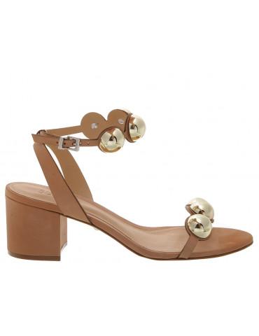sandale à talon bride avant strass