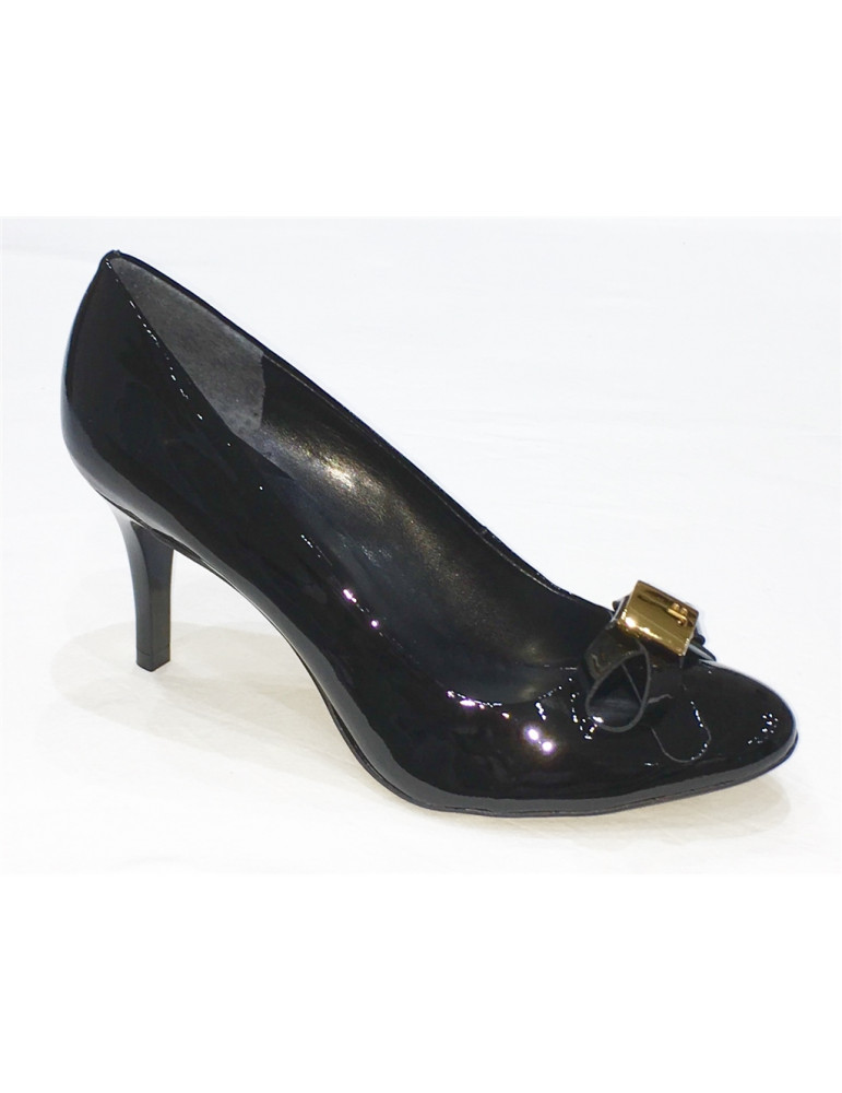 escarpin fantaisie talon large