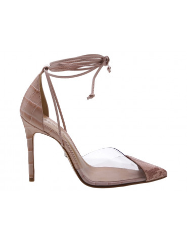 sandale enveloppante cuir tressé
