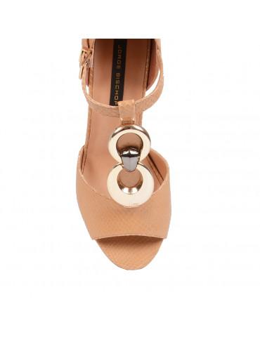 sandale à talonbeige clair