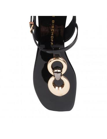 sandales à talons coup pied couvertmarron