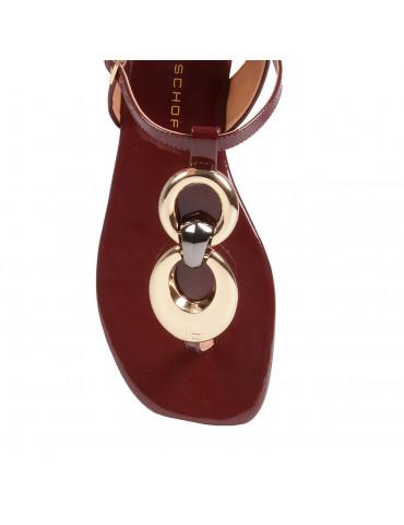 sandales à talons bride vynil cordon strass
