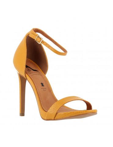 sandale à talon avec motif métallique