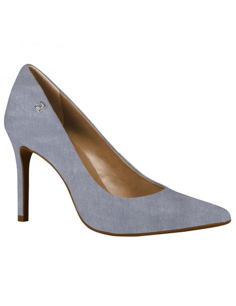 chaussure pointue talon large bride