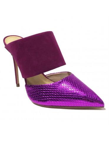 sandale à talon - rouge vif