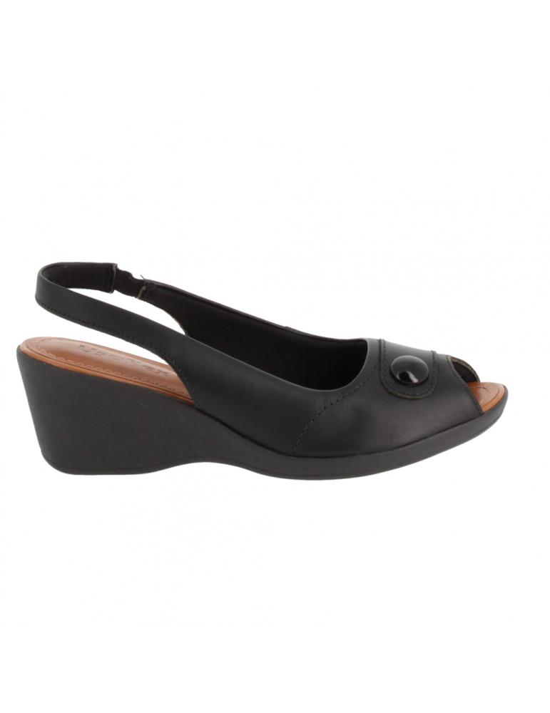 sandale à talon bride large