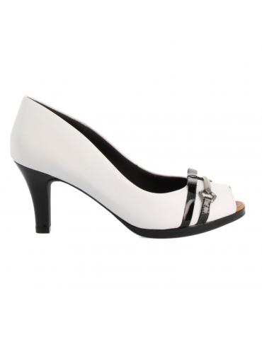 sandales compensées - blanc