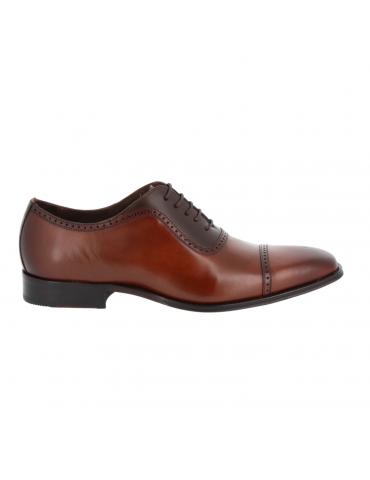 sandales enveloppantes cuir et vynile - peche