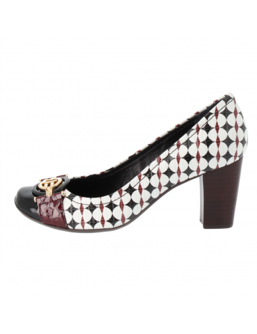 chaussure confort bouts pointus motif noeud