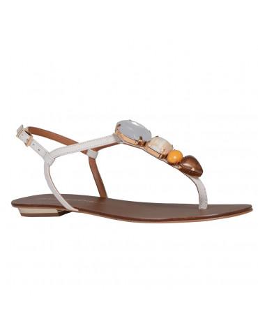 sandale à talon à brides croisées