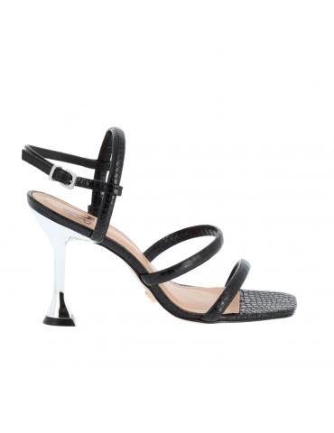 peep toe avec bride - noir