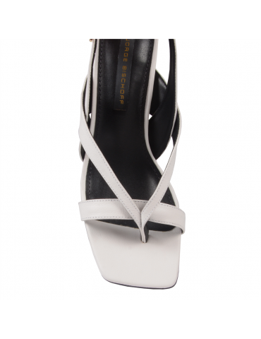 peep toe semelle compensée - noir et blanc