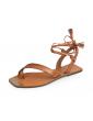 sandales empierrées à talons large