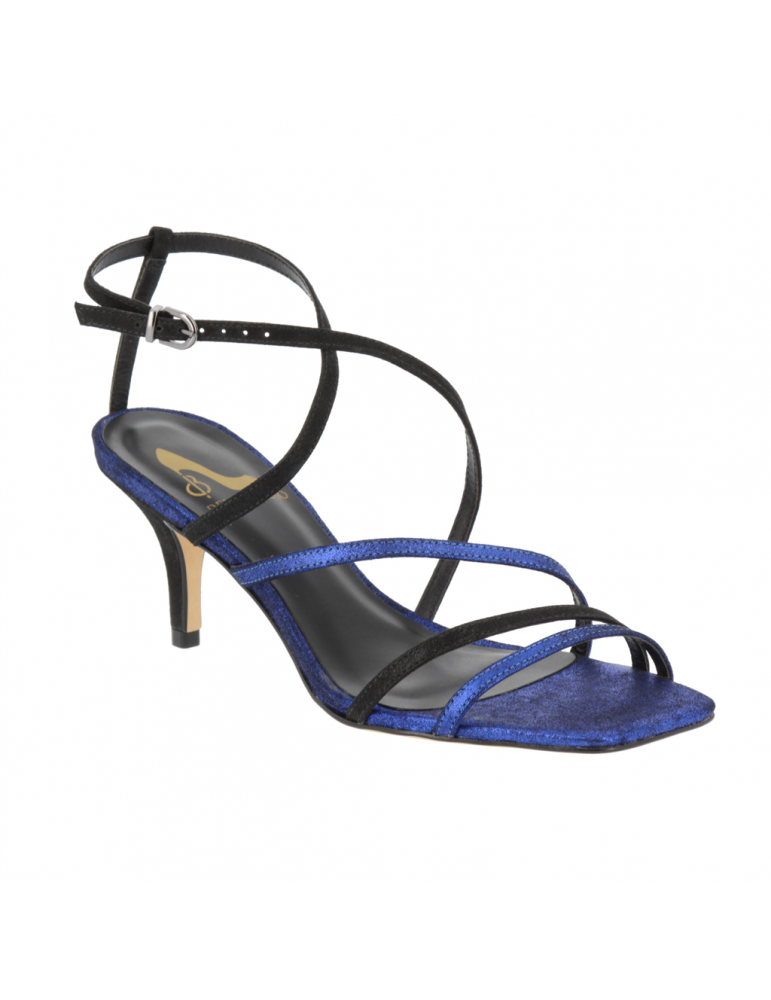 sandales enveloppantes cuir et vynile