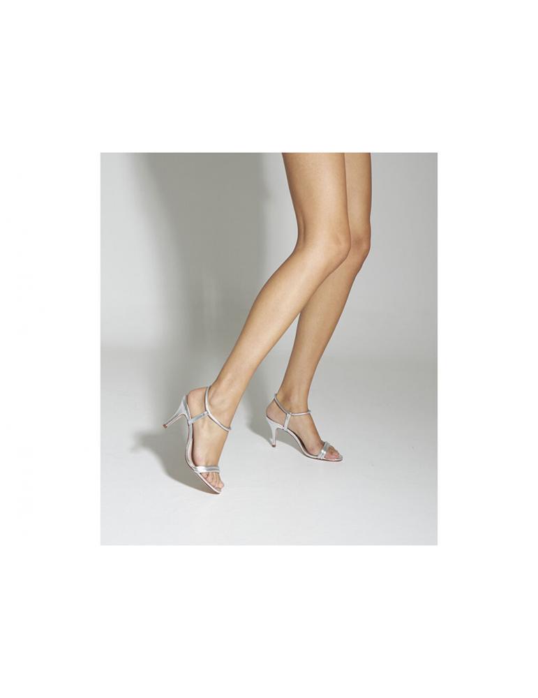 sandales talons carrés multibrides noeuds