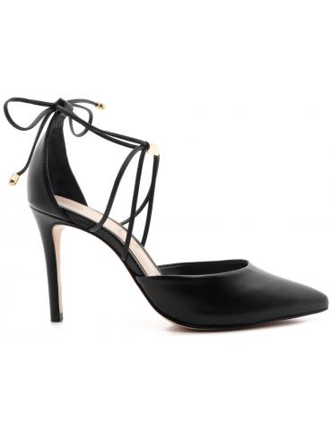 sandales cuir bride à noeud