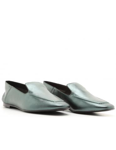 sandales cuir et métal gros talons