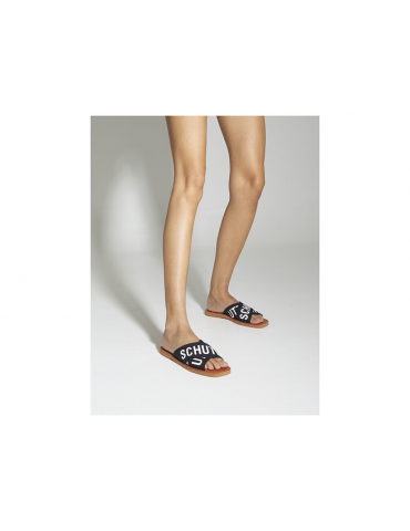 sandales cuir et pierres - noir
