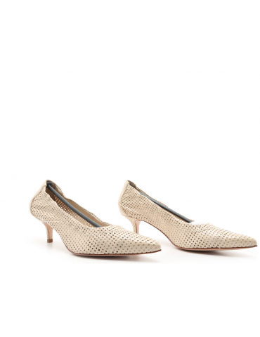 sandales cuir et pierres - beige foncé