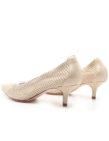 sandales cuir et pierres - blanc