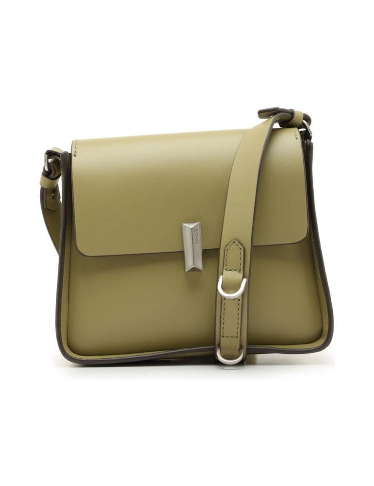 sac mini clutch rond cuir textile