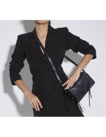 sac à main grand modèle - noir et blanc