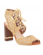 sandales à talons lanières fines et noeud