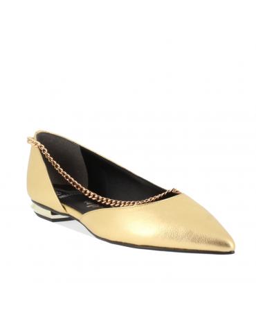 sandales à petits talons cuir drapé noeud