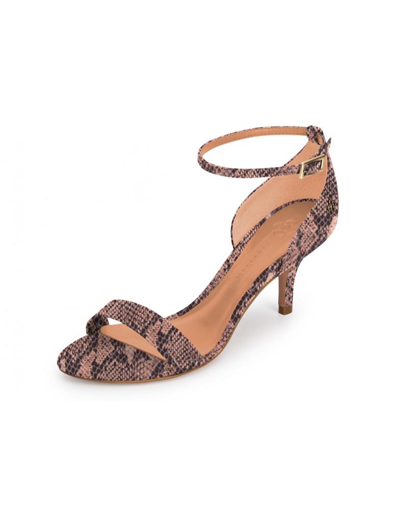 sandale à petit talon large