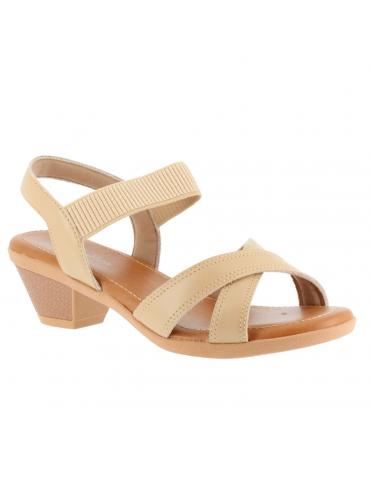 chaussures plates pointues empierrées - beige