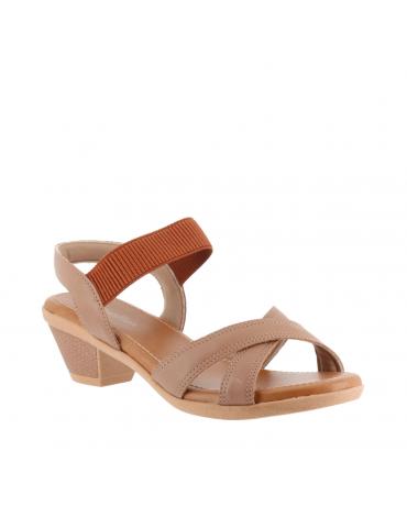 sandales empierrées - marron pierres vertes