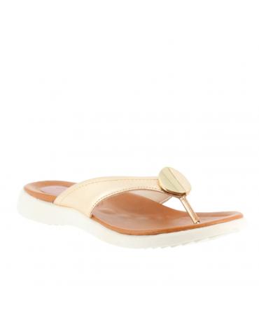 sandales à bouts pointus inserts métal petit talon - rouge