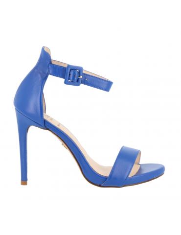 sandales compensées cuir et tissu