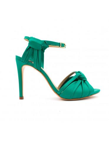 sandale compensée à talon haut