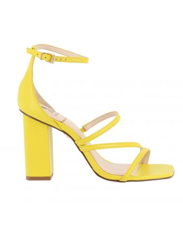 peep-toe confort bride arrièrre motif doré - blanc