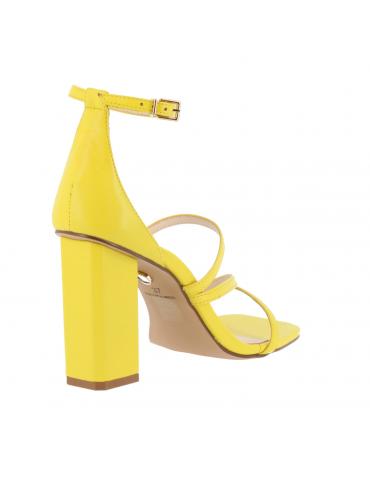 peep-toe confort bride arrièrre motif doré - beige foncé