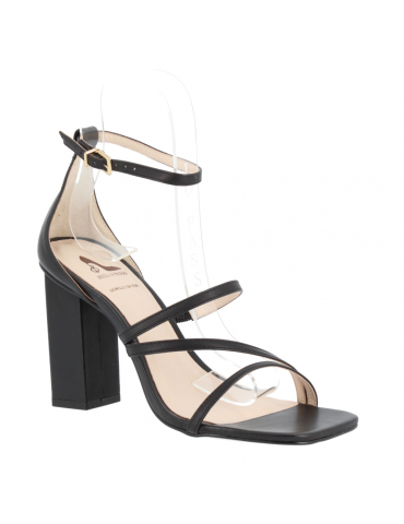 peep toes confort motif noeud et métal - marine