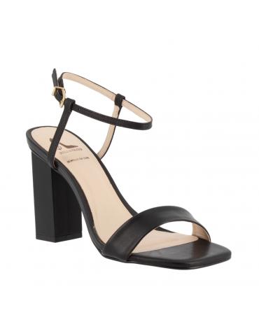 peep toes confort motif noeud et métal - rouge écarlate