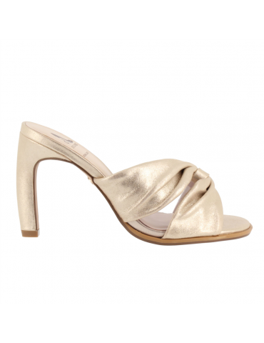 chaussure confort bouts pointus motif noeud - beige/marron/blanc