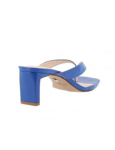 sandales à talons en bois confort - bordeaux