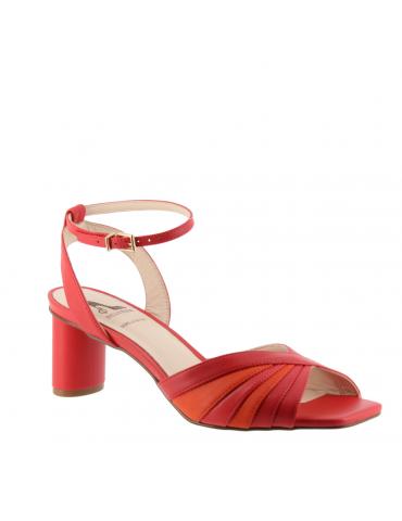peep toes confort motif boucle métal - noir