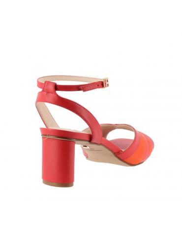 peep toes confort motif boucle métal - beige