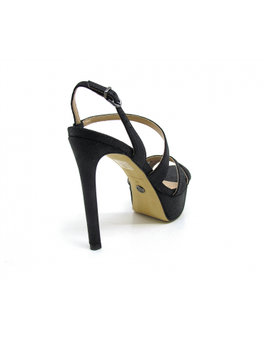 sandales plates schutz demi sphères - noir