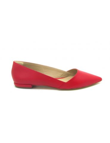 sandales à talons lanières rondes - rouge