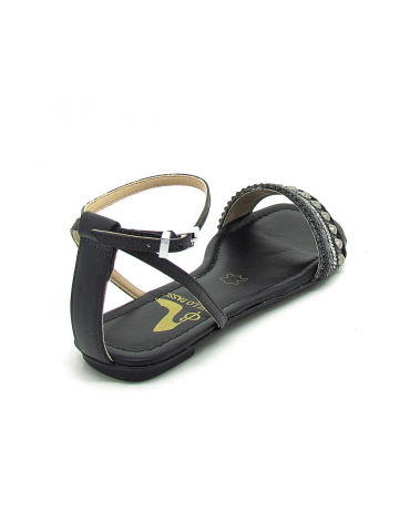 sandales compensées - vert